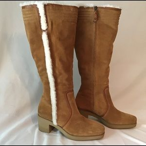 Cole Hann Tall Sherpa Suede Boots